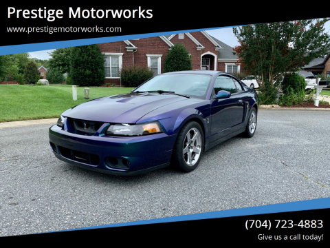 2004 Ford Mustang SVT Cobra for sale at Prestige Motorworks in Concord NC
