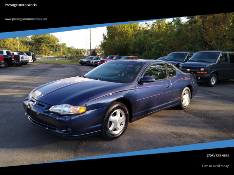 2001 Chevrolet Monte Carlo for sale at Prestige Motorworks in Concord NC