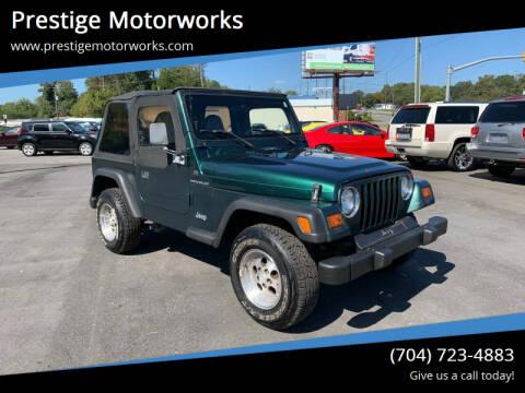 1999 Jeep Wrangler for sale at Prestige Motorworks in Concord NC