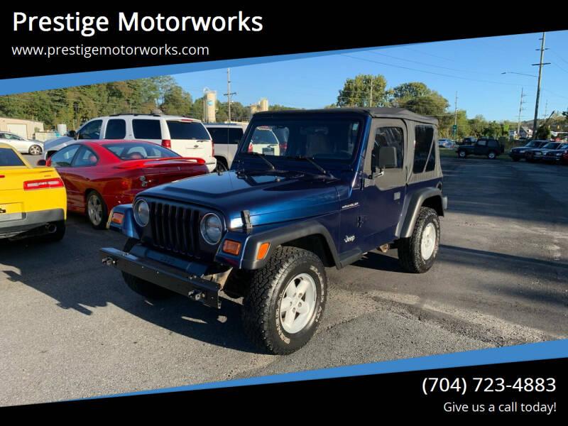 2000 Jeep Wrangler for sale at Prestige Motorworks in Concord NC