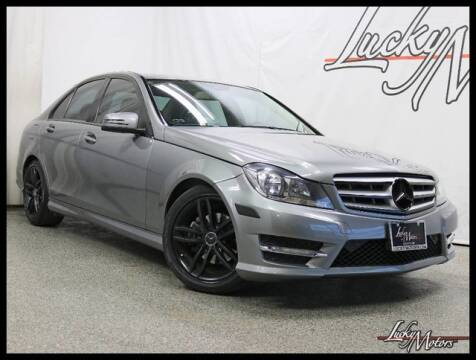 2012 Mercedes-Benz C-Class C 300 Sport 4MATIC for sale at LUCKY MOTORS in Villa Park IL