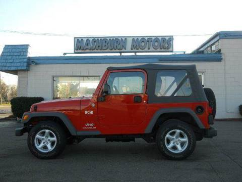 2005 Jeep Wrangler for sale at Mashburn Motors in Saint Clair MI
