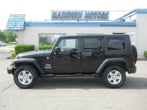 2009 Jeep Wrangler Unlimited for sale at Mashburn Motors in Saint Clair MI