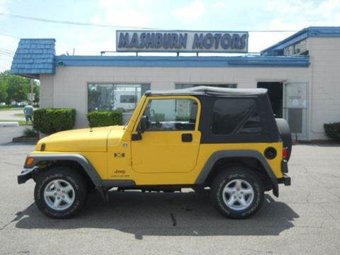 2006 Jeep Wrangler for sale at Mashburn Motors in Saint Clair MI