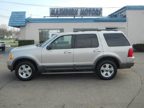 2003 Ford Explorer for sale at Mashburn Motors in Saint Clair MI