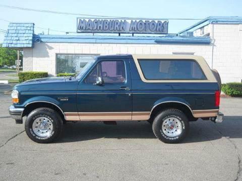 1994 Ford Bronco for sale at Mashburn Motors in Saint Clair MI