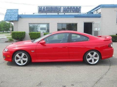 2006 Pontiac GTO for sale at Mashburn Motors in Saint Clair MI