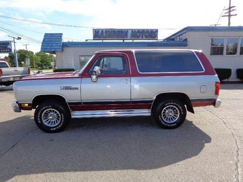 1988 Dodge Ramcharger for sale at Mashburn Motors in Saint Clair MI