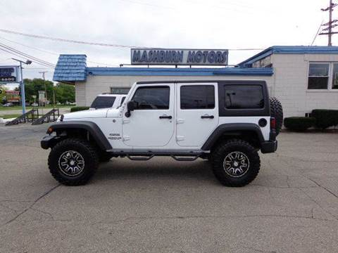 2011 Jeep Wrangler Unlimited for sale at Mashburn Motors in Saint Clair MI
