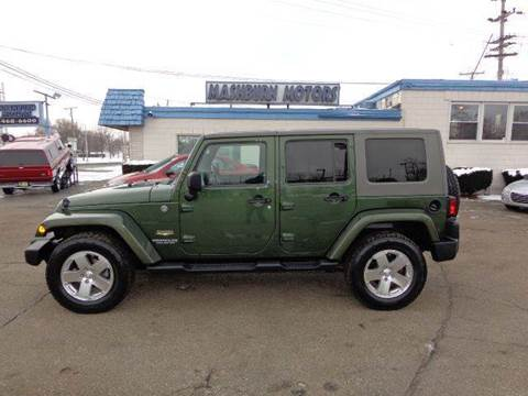 2008 Jeep Wrangler Unlimited for sale at Mashburn Motors in Saint Clair MI