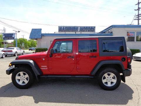 2012 Jeep Wrangler Unlimited for sale at Mashburn Motors in Saint Clair MI