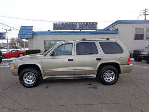 2003 Dodge Durango for sale at Mashburn Motors in Saint Clair MI