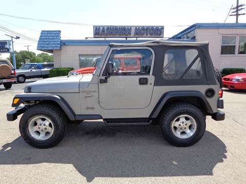 2000 Jeep Wrangler for sale at Mashburn Motors in Saint Clair MI