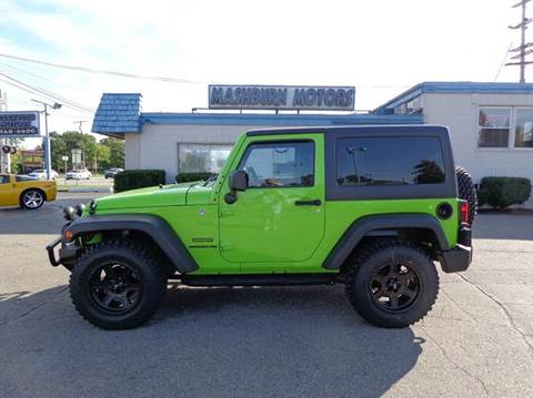 2013 Jeep Wrangler for sale at Mashburn Motors in Saint Clair MI