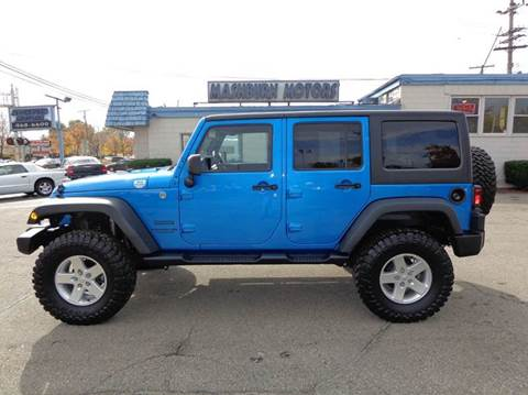 2014 Jeep Wrangler Unlimited for sale at Mashburn Motors in Saint Clair MI