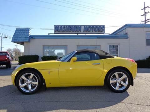 2007 Pontiac Solstice for sale at Mashburn Motors in Saint Clair MI