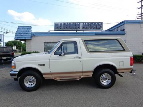 1995 Ford Bronco for sale at Mashburn Motors in Saint Clair MI