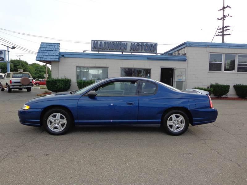 2005 Chevrolet Monte Carlo for sale at Mashburn Motors in Saint Clair MI