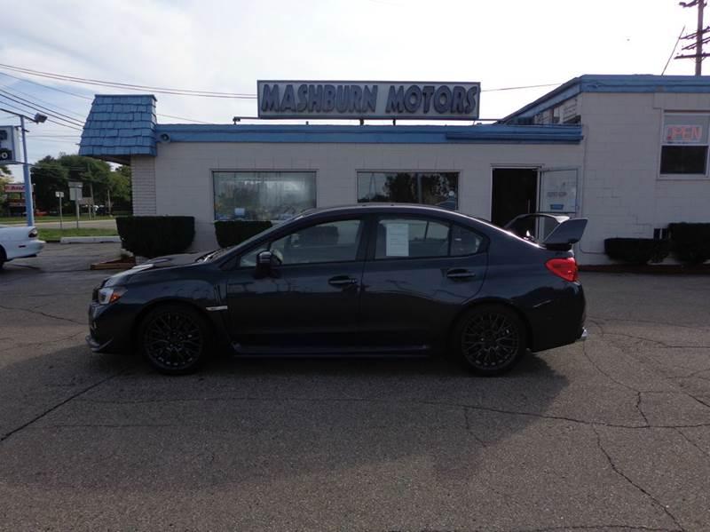 2016 Subaru WRX for sale at Mashburn Motors in Saint Clair MI