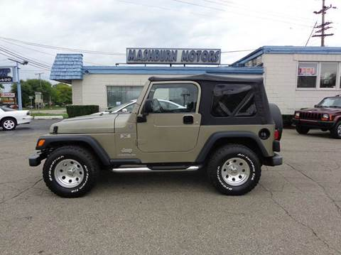 2004 Jeep Wrangler for sale at Mashburn Motors in Saint Clair MI