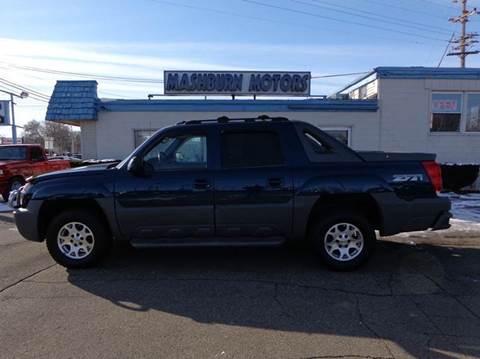 2002 Chevrolet Avalanche for sale at Mashburn Motors in Saint Clair MI