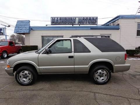 2003 Chevrolet Blazer for sale at Mashburn Motors in Saint Clair MI