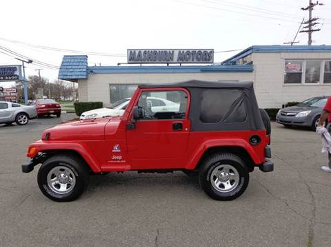 2003 Jeep Wrangler for sale at Mashburn Motors in Saint Clair MI
