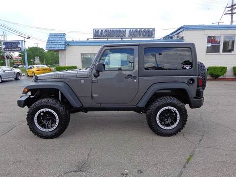 2016 Jeep Wrangler for sale at Mashburn Motors in Saint Clair MI