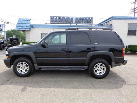 2002 Chevrolet Tahoe for sale at Mashburn Motors in Saint Clair MI