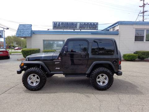 2002 Jeep Wrangler for sale in Mount Clemens, MI