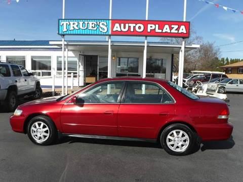 2002 Honda Accord for sale at True's Auto Plaza in Union Gap WA