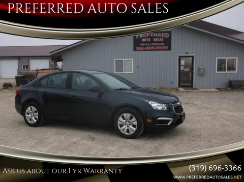 2015 Chevrolet Cruze for sale at PREFERRED AUTO SALES in Lockridge IA