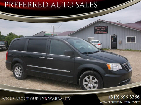 2012 Chrysler Town and Country for sale at PREFERRED AUTO SALES in Lockridge IA