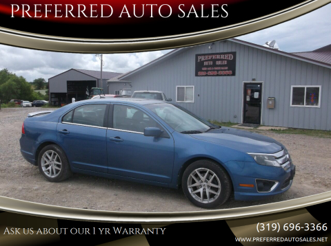 2010 Ford Fusion for sale at PREFERRED AUTO SALES in Lockridge IA