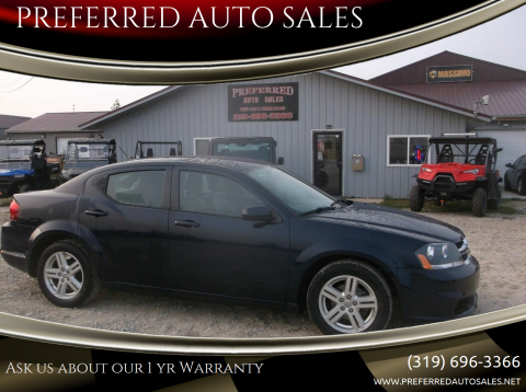 2014 Dodge Avenger for sale at PREFERRED AUTO SALES in Lockridge IA