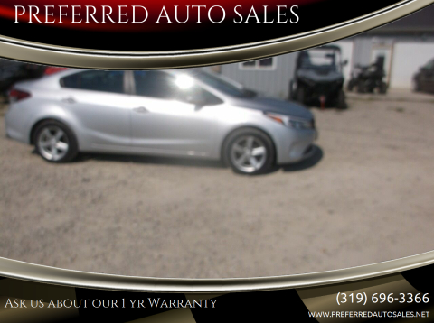 2017 Kia Forte for sale at PREFERRED AUTO SALES in Lockridge IA