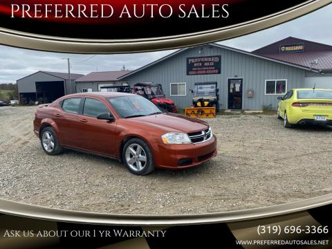 2012 Dodge Avenger for sale at PREFERRED AUTO SALES in Lockridge IA