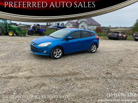2012 Ford Focus for sale at PREFERRED AUTO SALES in Lockridge IA