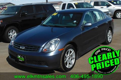2006 Infiniti G35 for sale in Helena, MT