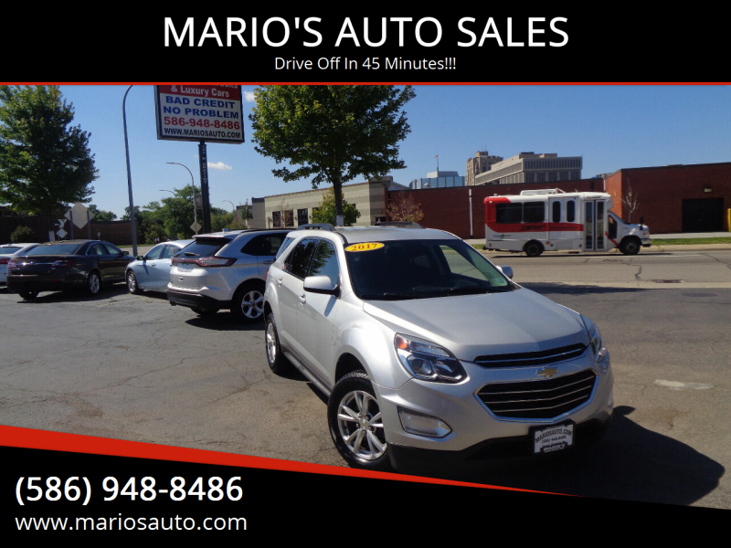 2017 Chevrolet Equinox for sale at MARIO'S AUTO SALES in Mount Clemens MI