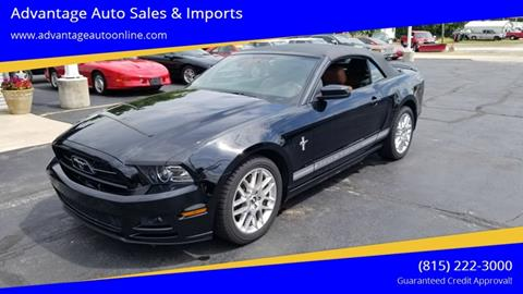 2013 Ford Mustang for sale at Advantage Auto Sales & Imports Inc in Loves Park IL