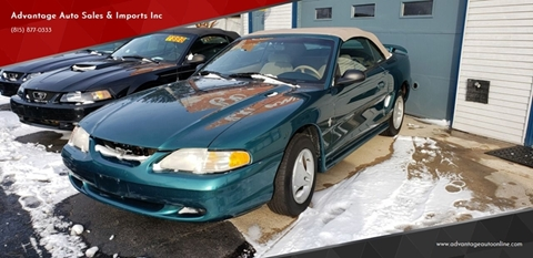 1997 Ford Mustang for sale at Advantage Auto Sales & Imports Inc in Loves Park IL