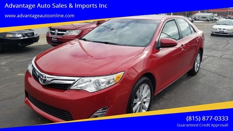 2012 Toyota Camry for sale at Advantage Auto Sales & Imports Inc in Loves Park IL