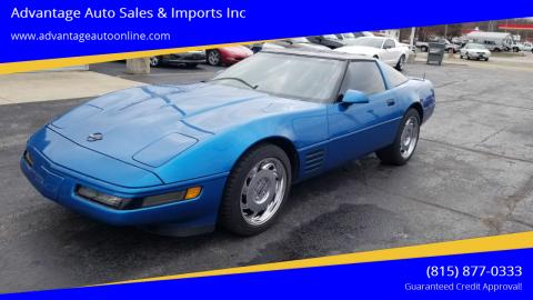 1992 Chevrolet Corvette for sale at Advantage Auto Sales & Imports Inc in Loves Park IL