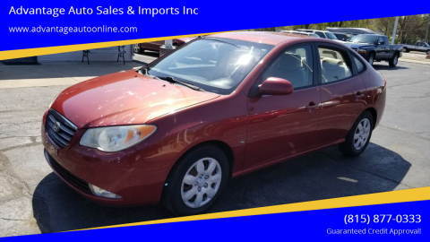 2008 Hyundai Elantra for sale at Advantage Auto Sales & Imports Inc in Loves Park IL