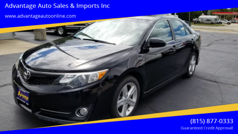 2013 Toyota Camry for sale at Advantage Auto Sales & Imports Inc in Loves Park IL