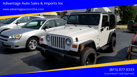 2001 Jeep Wrangler for sale at Advantage Auto Sales & Imports Inc in Loves Park IL