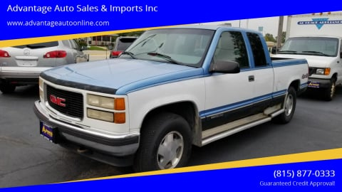 1996 GMC Sierra 1500 for sale at Advantage Auto Sales & Imports Inc in Loves Park IL