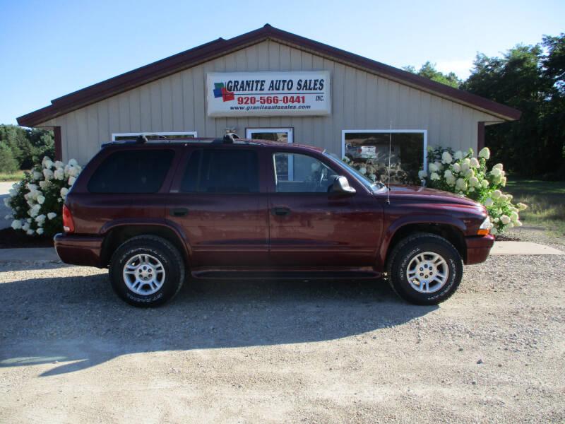 2002 Dodge Durango for sale at Granite Auto Sales in Redgranite WI