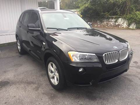 2012 BMW X3 for sale at GOLD COAST IMPORT OUTLET in St Simons GA